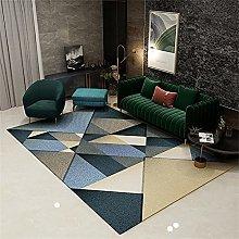 Tappeto Studio Tappeti Blue Beige Splicing Pattern