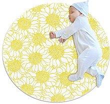 Tappeto Tappetto fiori gialli e bianchi Tappeto