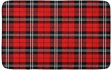 Tappeto tradizionale scozzese scozzese per Natale