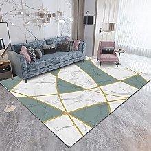 Tappeto,Verde Chiaro Geometrico 80x160cm