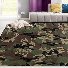 Tappeto verde mimetico per soggiorno, sala da