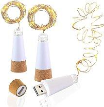 Tappo di bottiglia illuminato a LED, USB