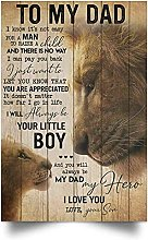 Targa in metallo vintage con leone to my dad,