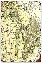 Targhe in metalloEarly Map of the Great