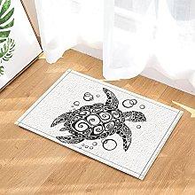 Tartaruga creativa in bianco e nero Tappetino da