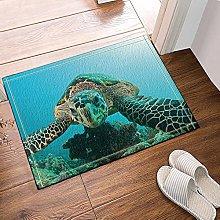 Tartaruga marina blu animale marino Tappetino da
