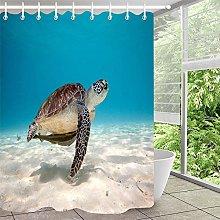 Tartaruga segni semplice tenda doccia bagno tenda