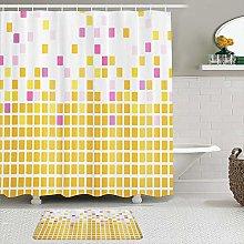 TARTINY Set di 2 tende da doccia con tappeti