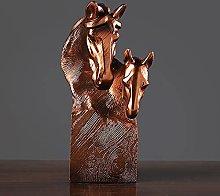 Tauzveok Mini Cavallo Testa Statua Scultura