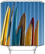 Tavola da surf giallo rosso blu minimalista tenda