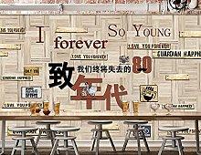 Tavola di legno murale Ristorante Bar Tema Sfondo