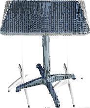 Tavoli Bar Alu Square 60X60Xh70Cm