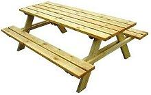 Tavoli picnic lasa impregnati cm 180x150xh70