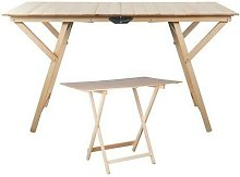 Tavoli tavolo pieghevole in legno cm 60x80h75