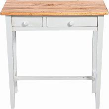 Tavolino consolle Country in legno massello di