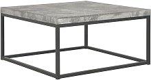 Tavolino da Caffè 75x75x38 cm Aspetto Cemento
