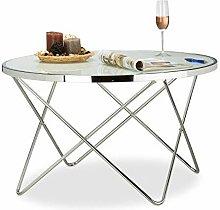 Tavolino da Salotto Argento Design Moderno