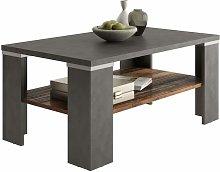 Tavolino da Salotto con Mensola Grigio Matera e