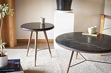 Tavolino da salotto in marmo nero  Sivärt