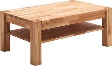 Tavolino da salotto in massello di faggio con