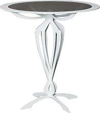 Tavolino da salotto moderno basso Minerva Bianco