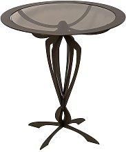 Tavolino da salotto moderno basso Minerva Bronzo