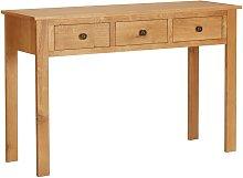 Tavolino da Trucco 118x40x77 cm Massello di Rovere