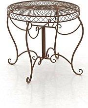 Tavolino Giardino in Ferro marrone antico
