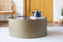 Tavolino in metallo e marmo Dickinson