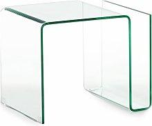 tavolino MAGAZINE in vetro con portariviste