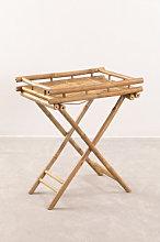 Tavolino pieghevole Wallis con vassoio in bambù