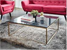 Tavolino quadrato design in Marmo e metallo Nero e
