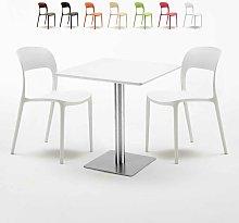 Tavolo 70x70 cm con 2 sedie colorate Restaurant
