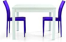 Tavolo allungabile a libro bianco frassinato 90x90