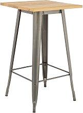 Tavolo Alto (60x60 cm) LIX Legno Piallato Piallato