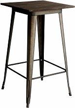 Tavolo alto bistrot quadrato LEGNO 60 LF610