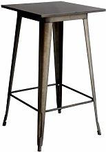 Tavolo alto bistrot quadrato metallo 60 LF605