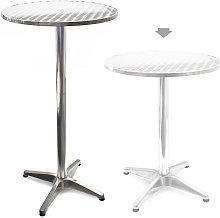 Tavolo alto da bar rotondo alluminio altezza