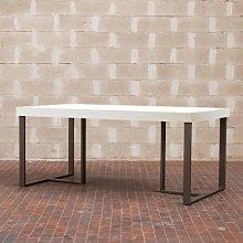 Tavolo Apollo rettangolare legno bianco frassino