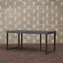 Tavolo Apollo rettangolare legno cemento 130 x 90