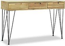 Tavolo Consolle 120x35x76 cm in Legno Massello di