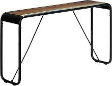 Tavolo Consolle 140x35x76 cm in Legno Massello di