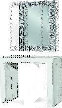 Tavolo consolle bianco consumato 90X45 - 90X295 cm