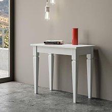 Tavolo consolle classica allungabile IMPERO bianco