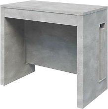 Tavolo consolle con 3 allunghe finitura cemento