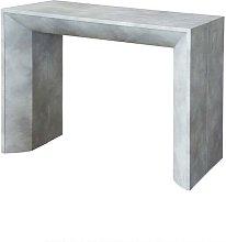 Tavolo consolle con 5 allunghe finitura cemento