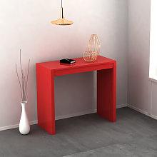 Tavolo consolle Mathilde allungabile colore Rosso