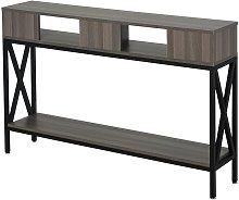 Tavolo Consolle Stile Industriale con 3 Ripiani,