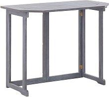 Tavolo da Balcone Pieghevole 90x50x74 cm in