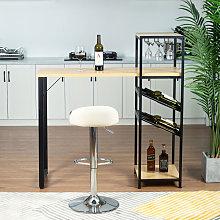 Tavolo da bar con 2 rastrelliere per il vino per